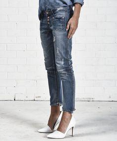 $148 NEW ONE by One Teaspoon Desperados Skinny Low Waist Drop Crotch Jean - 28 #oneteaspoon #skinnyjeans #boutiquedenim