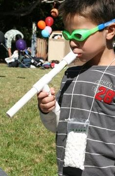DIY Marshmallow gun instructions. I bought one of these at Taste of (insert city) for five bucks.  This is cheaper.