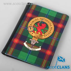Young Clan Crest and Tartan Passport Cover. Free worldwide shipping available