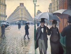 Gustave Caillebotte,  Jour de pluie à Paris/Paris Street ; Rainy Day, 1877