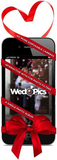 WedPics is an interactive wedding album created by your guests (Get the invite on: www.WedPics.com). Spend more time enjoying your memories and less time chasing them down. Available for iPhone, Android and Web.