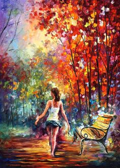 BAREFOOTED STROLL - Palette knife Oil Painting On Canvas By Leonid Afremov http://afremov.com/BAREFOOTED-STROLL-Original-Oil-Painting-On-Canvas-By-Leonid-Afremov-54-x40-SKU19051.html?bid=1&partner=20921&utm_medium=/vpin&utm_campaign=v-ADD-YOUR&utm_source=s-vpin