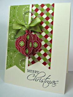 Friday, February 1, 2013 stamping up north: Stampin Up ornament punch Christmas card
