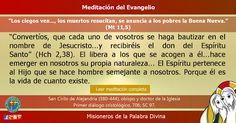 """MISIONEROS DE LA PALABRA DIVINA: MEDITACIÓN DEL EVANGELIO - """"Los ciegos ven..., los..."""