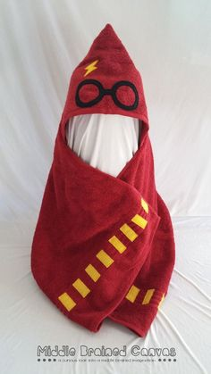 Harry Potter inspired hooded bath towel for the very creative baby shower gift, or for the first birthday in your life.