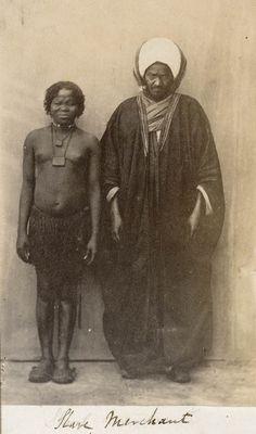 Slave merchant, Cairo, c 1865 - National Maritime Museum. Slave sellers.