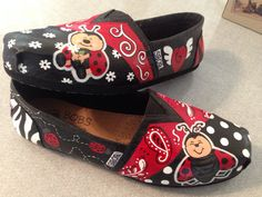 Ladybug shoes I painted