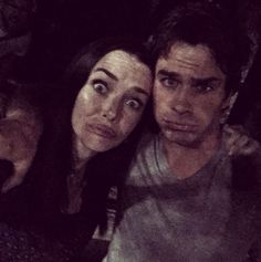 Annie and Ian after a late night shoot on the TVD set 22/8/15