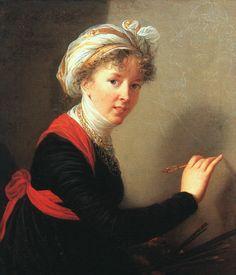 Self Portrait 1800 by by Louise-Elisabeth Vigee-Lebrun