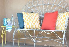 Front porch that is so cheerful and inviting! #kmartoutdoor #CBias