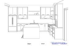 CKD carlson kitchen design inc. – Kitchen Design Service for Professionals One Wall Kitchen, Kitchen Size, U Shaped Kitchen, Kitchen Items, Eclectic Kitchen, Kitchen Interior, Ikea Side Table, Narrow Rooms, Partition Design