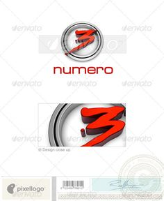 Numbers Logo - 3D-77