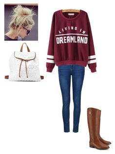 """""""Living In Dreamland"""" by maybeckc ❤ liked on Polyvore featuring Ally Fashion, Tory Burch and Charlotte Russe"""