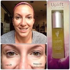 "9b http://youtu.be/N4Qr7s2weiA      A couple of us have been chatting about the INNOVATIVE new product we launched September 1st.... UPLIFT Eye Serum. This is a HIGHLY concentrated serum for fine lines, wrinkles, puffiness and dark circles that is seriously ""THE BOMB."" There is an an International Patent pending on this product, there is nothing else like it anywhere, and you are REALLY going to want it.... $65 for magic ingredients including: Vitamin E, Vitamin C CoQ10, Natural Skin Lipids…"