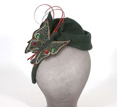 Milgrim beaded hat, 1940s, from the Vintage Textile archives.