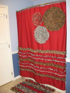red and tan shower curtain. Shower Curtain Custom Designer Fabric Ruffles Flowers Cheetah Zebra Giraffe  Black Barn Red Brown Tan Gray Personalized Vintage Paris and Stripe Lt
