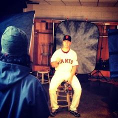 Buster Posey on picture day