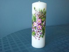 Hand painted, holiday themed pillar candle - on sale in my craft store