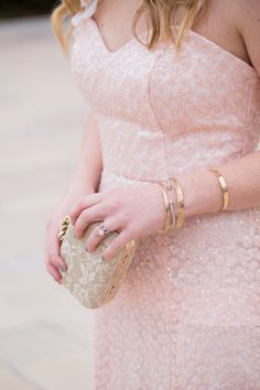 Blush Pink Sequin Gown // Formal Wedding Guest Attire