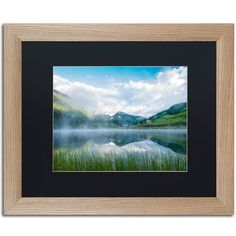 "Trademark Art 'Fog in the Mirror' by Michael Blanchette Framed Photographic Print Matte Color: Black, Size: 16"" H x 20"" W x 0.5"" D"
