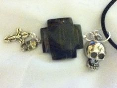 Necklace  Skull Pendant Silver plating  by QualityNotQuantity, $12.00