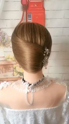 Hairdo For Long Hair, Bun Hairstyles For Long Hair, Wedding Hairstyles, Videos Of Hairstyles, Simple And Easy Hairstyles, Hairstyles For Girls Easy, Updo Hairstyles Tutorials, Beach Hairstyles, Indian Bridal Hairstyles