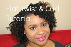 Flat Twist & Curl | Natural Hair Tutorial