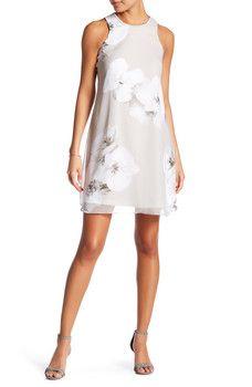 Modern American Designer - Sleeveless Printed Dress (Petite)
