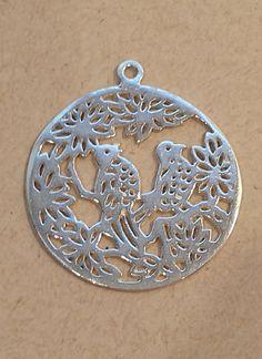Bali Handmade Sterling Silver Birds in Flowers by ThatCompleteLook