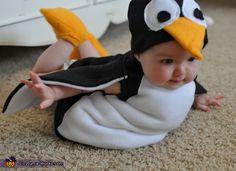 Flying Penguin Costume - Halloween Costume Contest via Halloween Costume Contest, First Halloween, Funny Halloween Costumes, Animal Costumes, Cute Costumes, Baby Costumes, Costume Ideas, Creative Costumes, Penguin