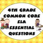 Posting essential questions in the classroom has never been easier! This printable file contains essential question posters for each of the 4th grade English Language Arts (ELA) Common Core Standards! 12 super cute backgrounds are also included! $4.50
