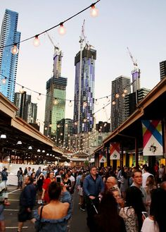 Enjoy beautiful summer nights in the markets of Melbourne Australia. Enjoy your new life living in this great country. Melbourne Girl, Melbourne Travel, Melbourne Victoria, Victoria Australia, Melbourne Australia City, Melbourne Markets, Visit Melbourne, South Australia, Perth