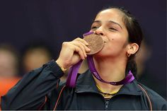 Saina Nehwal is currently the world's No 1 women's singles player in Badminton. The is only the second Indian (after Prakash Padukone) to have achieved the top ranking in Badminton and bec. James D'arcy, Badminton Championship, Badminton Court, Badminton Match, England International, Sports Personality, Inspirational Movies, Asian Games, Very Happy Birthday