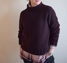 Ravelry: Megan pattern by Josée Paquin Big Hugs, Jumpers, Ravelry, Knitting Patterns, Turtle Neck, Celebrities, Sweaters, Tops, Fashion