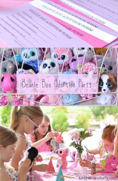 Beanie Boo Adoption Party, Girls Party Ideas
