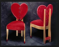 Broken heart chairs