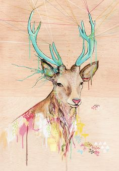 40. Ocho ciervos by Belén Segarra