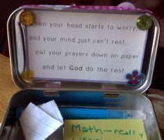 Prayer box for the kids