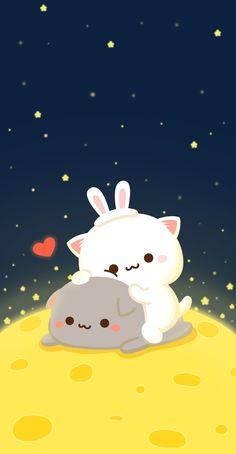 Easy Cheese Danish - Let the Baking Begin! Cute Bear Drawings, Cute Kawaii Drawings, Kawaii Doodles, Cute Love Pictures, Cute Love Gif, Cute Cat Gif, Cute Kawaii Animals, Kawaii Cat, Chibi Cat