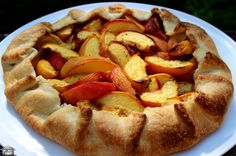 A freeform tart like this is a great option if you feel intimidated by the process of making conventional pies. Shortcrust Pastry, Pie Plate, Rolling Pin, Apple Pie, Tart, Rolls, Cooking Recipes, Peach, Desserts