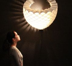 made of paper cups...love it!