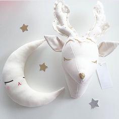 2016 Fashion Kids Baby Handmade Stuffed Toys Animals Dear Style Room Decoration Wall Decoration Size 35X25CM Christmas Gift