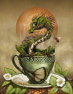 Tea Dragon Print by Stanley Morrison