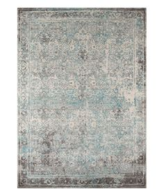 This Momeni Rugs | Turquoise Vintage Rug by Momeni Rugs is perfect! #zulilyfinds