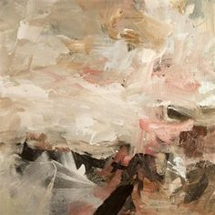 Artist Louise Balaam creates atmospheric landscapes and abstract paintings in Sevenoaks, Kent, South East England, uk Seascape Paintings, Landscape Paintings, Art Paintings, Overlapping Art, Abstract Landscape, Abstract Art, Sketchbook Project, Pretty Art, Contemporary Paintings
