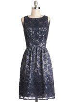 Entirely Enchanting Dress in Navy | Mod Retro Vintage Dresses | ModCloth.com, $158