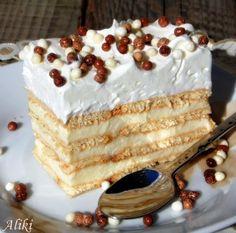 Mamina jela: Gala keks torta - sa belom čokoladom i pudingom od slatke pavlake Food Cakes, Cupcake Cakes, Croation Recipes, Torta Recipe, Kolaci I Torte, Torte Cake, Layered Desserts, Traditional Cakes, Little Cakes