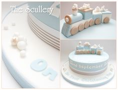 Little boys christening cake - choo choo ;-) | by The Scullery (Louise)