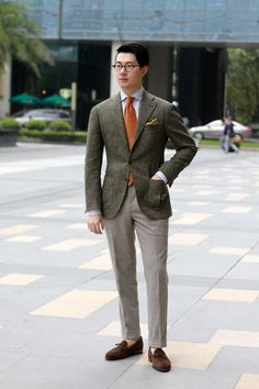 TheFirenseChina | Tweed Jacket with Flannel Pants