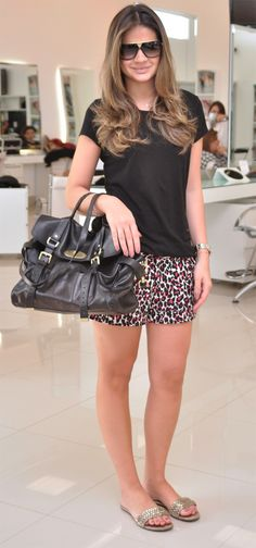 Thássia Naves - Basic black + animal print